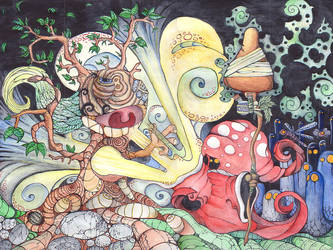 Mushroom Witch by whitedeer