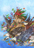 Huitzilopochtli by zaradei