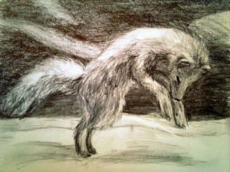 Arctic Fox by Art-By-Ashley-Martin