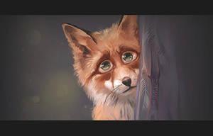 Sorrowful fox by CurlyJul