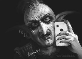 Troll with iPhone by CurlyJul