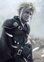 Cloud Strife by CurlyJul