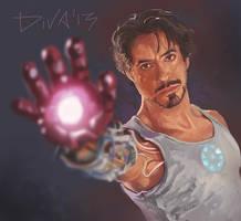 Tony Stark - Iron Man by CurlyJul