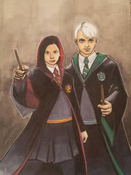 Ginny Weasley and Draco Malfoy by MasonEasley