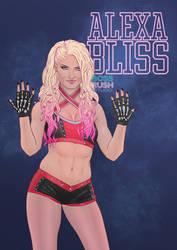 alexa bliss five feet of fan art by dirkpower on deviantart