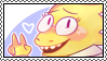 undertale stamp - dr. alphys by hypsistamps