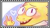 undertale stamp - dr. alphys by hypsistamps