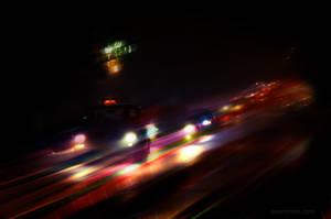 Night traffic by MaryTol