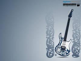 Wallpaper - Guitar Skin Design by rames