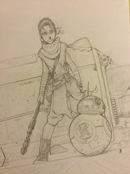ForceFriday Rey and BB8 by JediKnight97