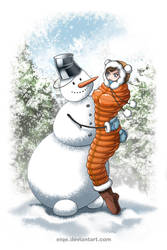 Snowman by eiqe