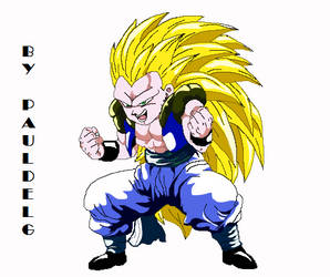 Gotenks ssj3 sprite by pauldelg