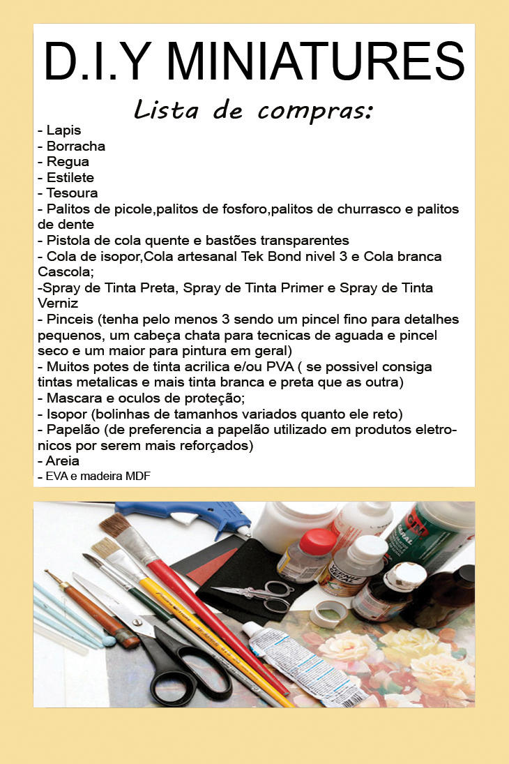DIY Miniatures lista de compras by augustelos