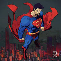 Superman Looms Over by HecatesRealm