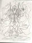 Mystic Six-Tailed Fox WIP by Taqresu650