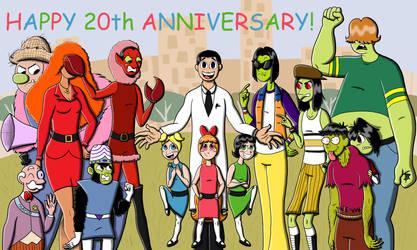 Powerpuff Girls 20th Anniversary!!! by k-Liight