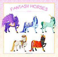 Fantasy Horses by honeymil