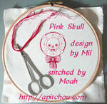 Pink Skull by honeymil