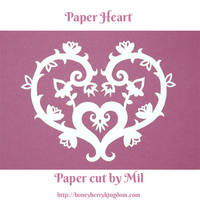 Paper Heart 2 by honeymil