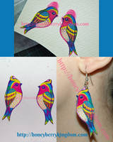 Birds Earrings by honeymil