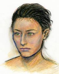 Portrait Garance Oil Pastels by honeymil