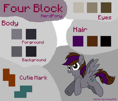 Four Block - Colour Guide v.2 by Nerd-Pony
