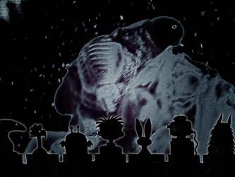 Cassie and Friends Watch Giant Cicada Revenge by serizawa3000