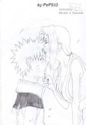 Naruto and Tsunade - Forhead kiss by PePSii-3