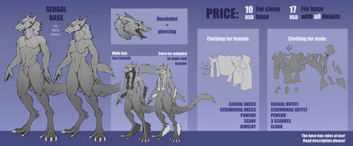 {P2U Sergal Base} PRICE REDUCED: 7$ or 13$!!! by BessReed
