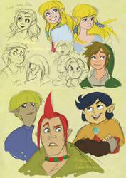 Je, some LoZ sketches by Traversini