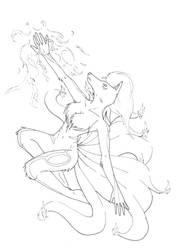 Ninetailes Minka by WrenShimmamora
