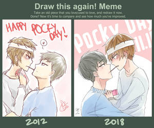 Draw this again! Meme - Pocky Day! by jecca-zn