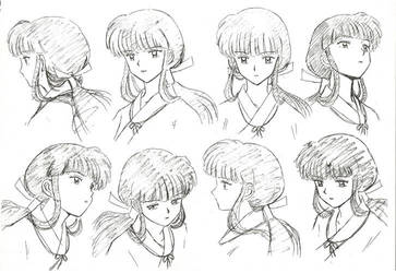 Kikyo head poses by RosalieCapulet