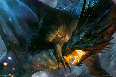 Shadow Dragon, cover illustration by VargasNi