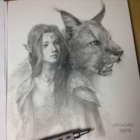 Elf lady (timelapse) by VargasNi