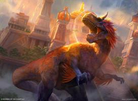Burning's Sun Avatar MTG by VargasNi