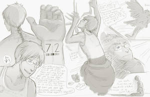 Portal- Human Wheatley Characterization Sketches by Wolfbites