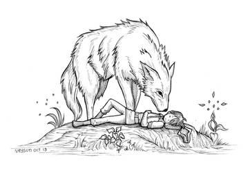 Inktober 2018 - Day 13 - Wolf by Neysun
