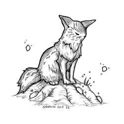 Inktober 2018 - Day 22 - Foxy by Neysun