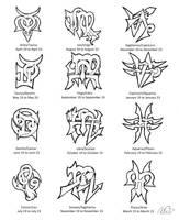 Zodiac Cusps Tattoo Designs by Wolfrunner6996
