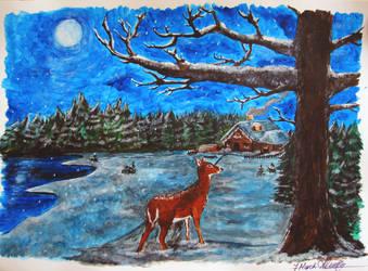 Winter Night by Kamishiro-Yuki