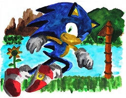 Sonic the Hedgehog by supersonikku
