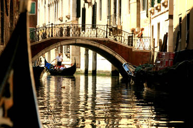 venice view from gondola by pelinayca
