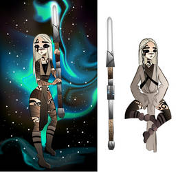 Two Jedi Maeve Ithori designs by FireflyDelilah