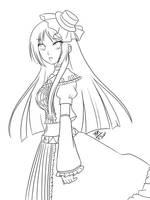 Ritsu Lineart by yesi-chan