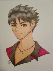 Qrow in Markers by yesi-chan
