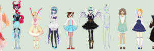 Pretty Dresses .:Collab:. by Crystallized-Rose
