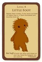 Munchkin monster card 'Little Foot' by Lordoftheslugs