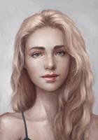 Commission - detailed portrait 05 by AizelKon