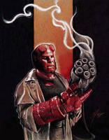Hellboy and Big Baby by GabeFarber